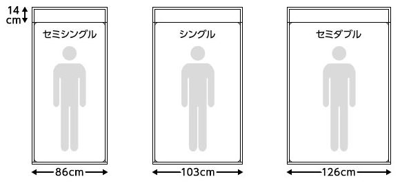 セミシングルベッドのサイズ