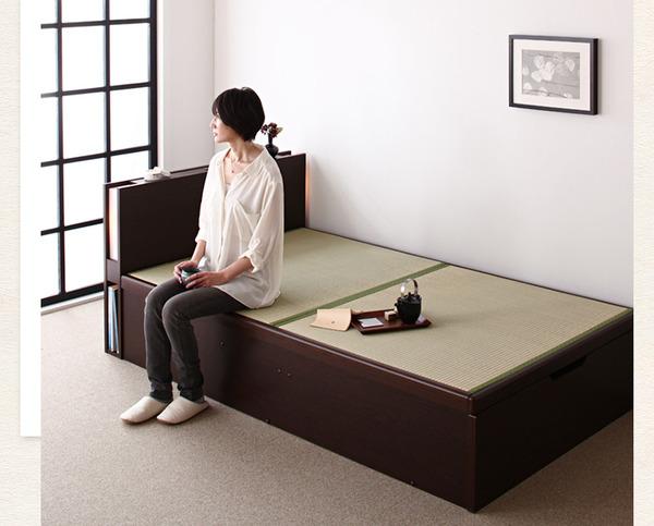フレーム枠で支える畳ベッド