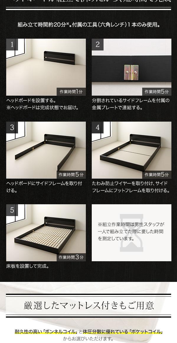 フロアベッドの組み立て方法