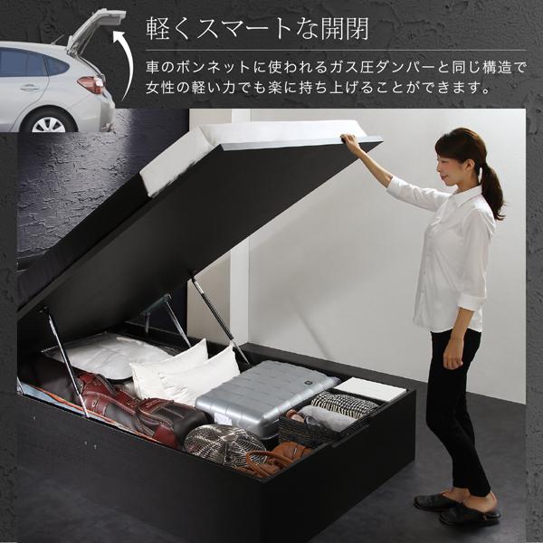 女性でも簡単に開閉できる跳ね上げ式ベッド
