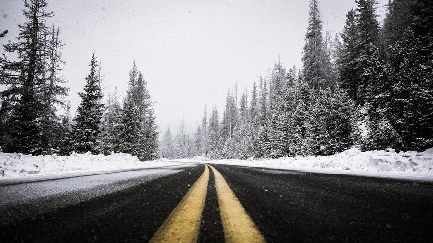 寒い冬の景色