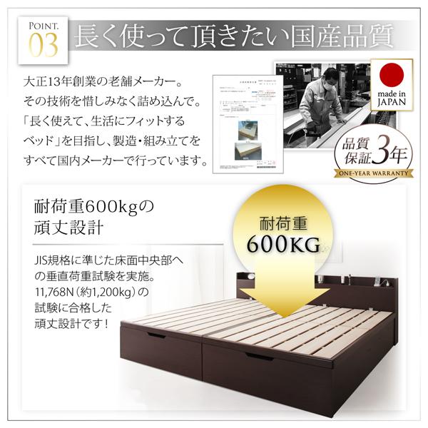 耐荷重600㎏の跳ね上げ式ベッド