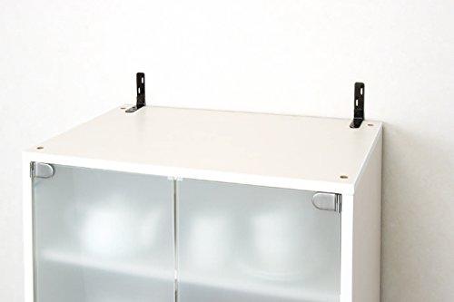 アイリスオーヤマのアイリスオーヤマ 家具転倒防止L字金具 ブラック JTK-L2