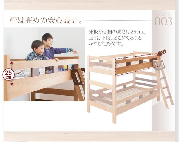 二段ベッドのサイドガード