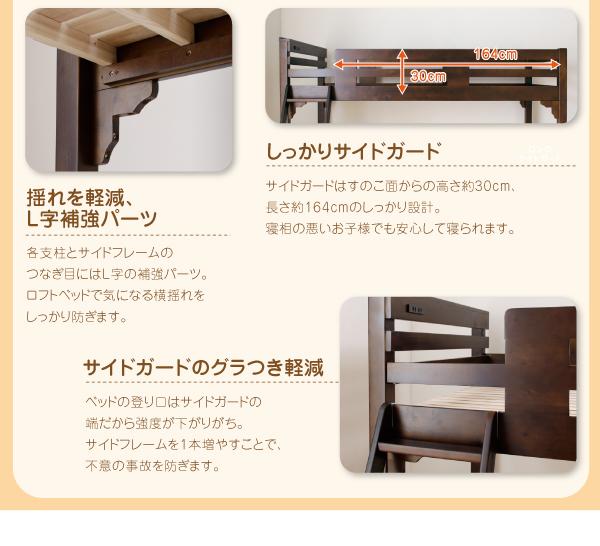 ロフトベッドの耐震機能