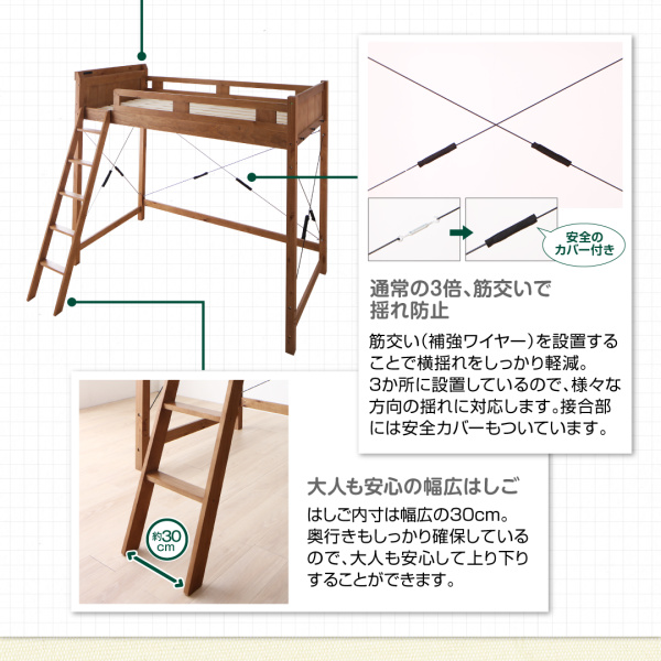 ロフトベッドの梯子