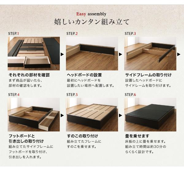畳ベッドの組み立て方法