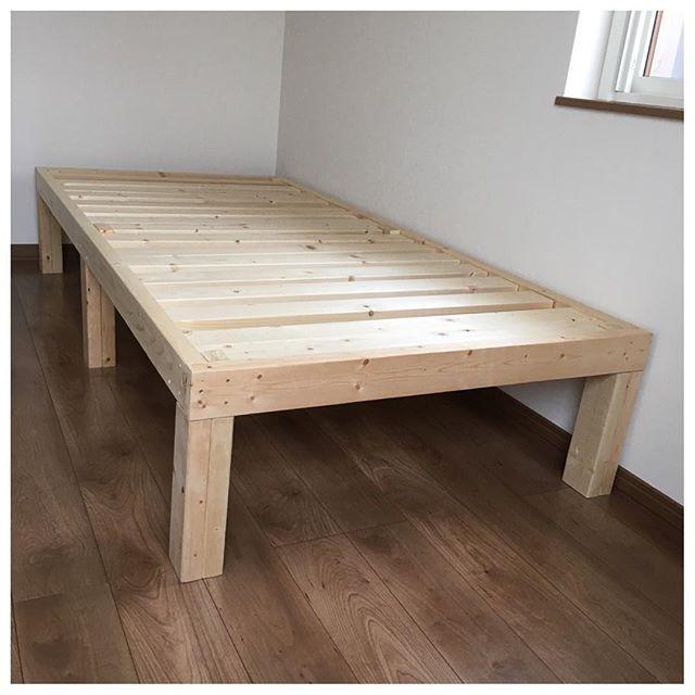 ベッドフレームで作った植木台