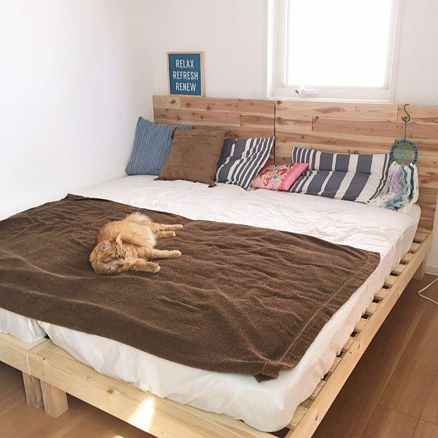 ハイバックすのこベッド