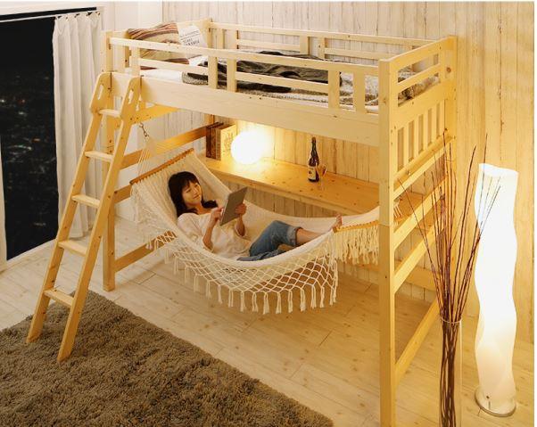 ロフトすのこベッド