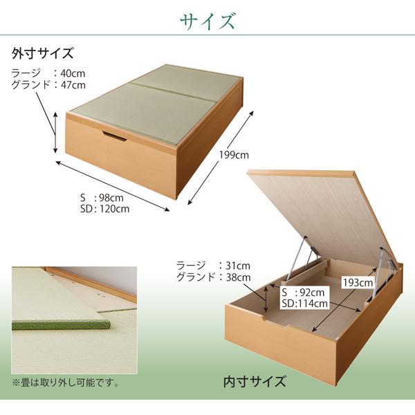 畳ベッドのサイズ