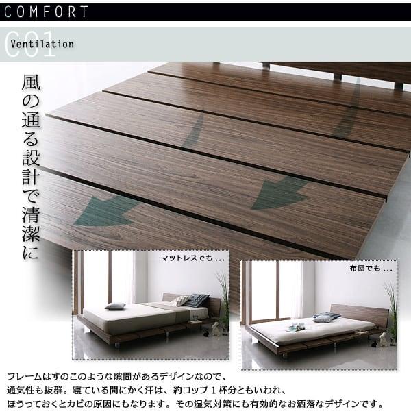ローベッドのベッドフレーム
