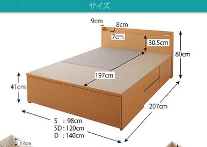 チェストベッドのサイズ