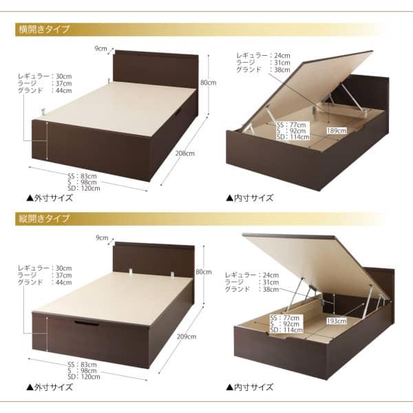 跳ね上げ式ベッドの構造