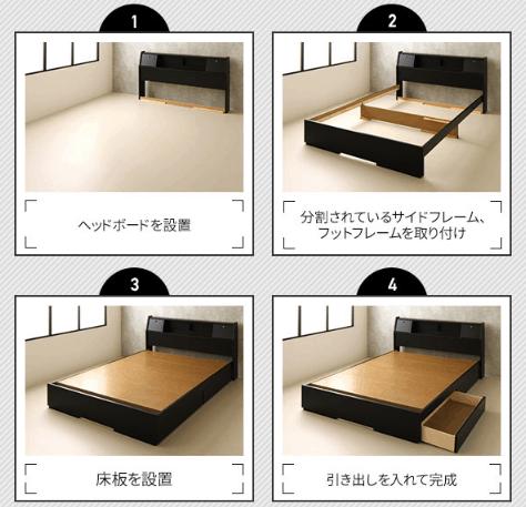 引き出し式収納ベッドの構造