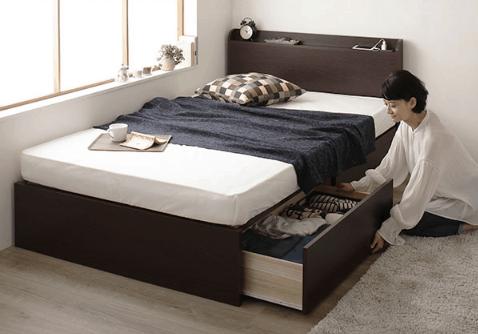 高さが低い収納ベッド