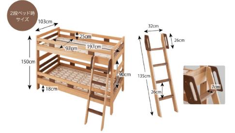 二段ベッドのフレーム