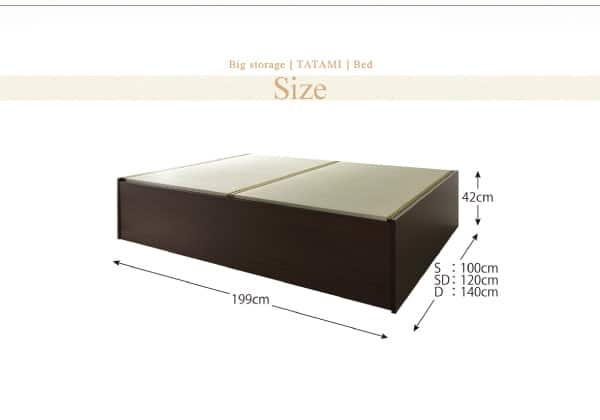 畳ベッドの大きさ