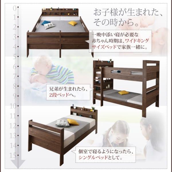 赤ちゃんから大人まで使える二段ベッド